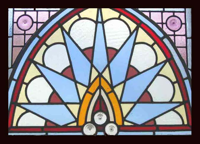 antique stained glass window fusion