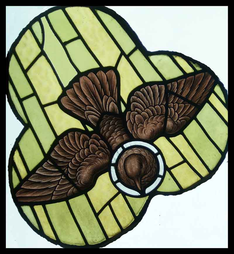 dove of peace. religous stain glass