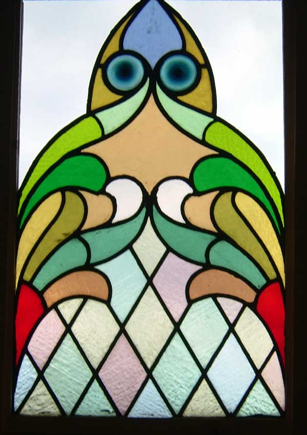 Beautiful church rondel window