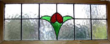 set of 3 antique tulips window