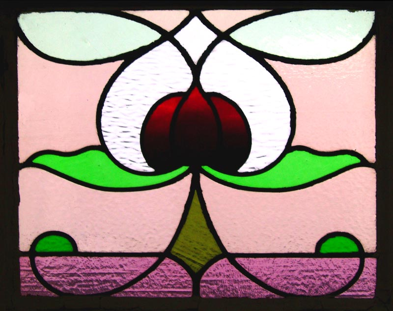 art deco stained glass window