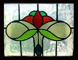 stained glass nouveau  window