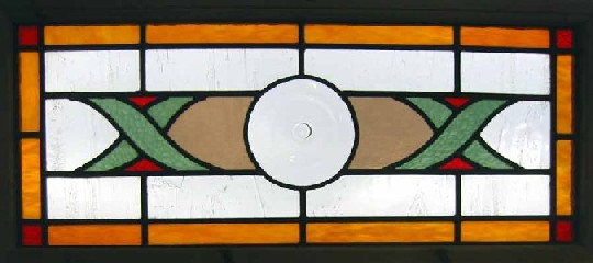 large rondel antique window
