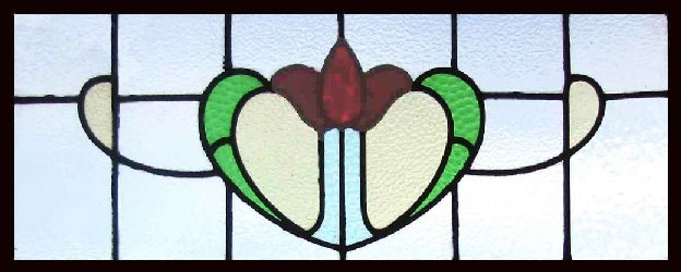 Tulip Transom. STAINED GLASS GALLERY