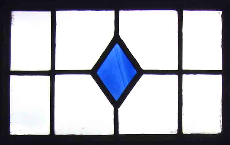 blue diamond window