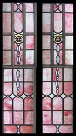 Sumptuous Pink Ripple Stained Glass Window