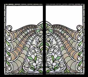 Window Treatments-Peacock Sidelight Windows