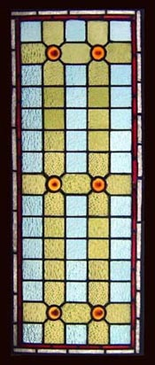 Amber Gems Stained Glass Window
