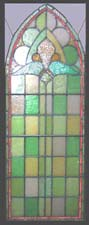 Gothic Castle Stained Glass Window