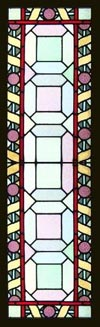 Huge Victorian Stained Glass Window