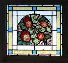 masterpiece. stained glass antique window